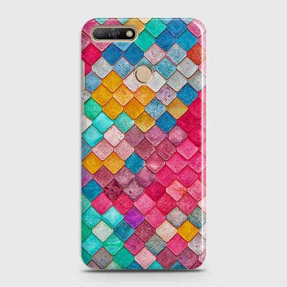 Chic Colorful Mermaid 3D Case For Huawei Y7 2018