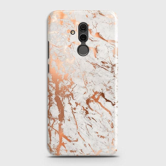 Huawei Mate 20 Lite Cover - In Chic Rose Gold Chrome Style Printed Hard Case with Life Time Colors Guarantee