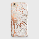 Oppo F1 Plus / R9 Cover - In Chic Rose Gold Chrome Style Printed Hard Case with Life Time Colors Guarantee
