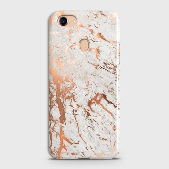Printed Cover in Chic Rose Gold Chrome Style Case with Life Time Guarantee For Oppo F5 / F5 Youth