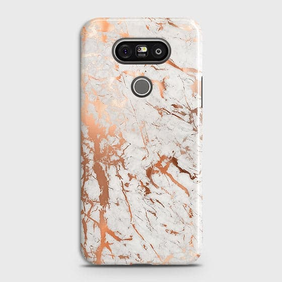 Printed Cover in Chic Rose Gold Chrome Style Case with Life Time Guarantee For LG G5