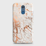 LG Q7 Cover - In Chic Rose Gold Chrome Style Printed Hard Case with Life Time Colors Guarantee