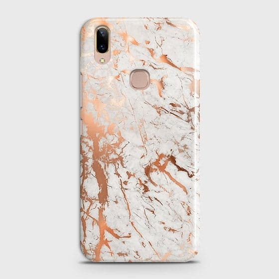 Vivo V9 / V9 Youth Cover - In Chic Rose Gold Chrome Style Printed Hard Case with Life Time Colors Guarantee