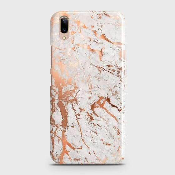 Vivo V11 Pro Cover - In Chic Rose Gold Chrome Style Printed Hard Case with Life Time Colors Guarantee