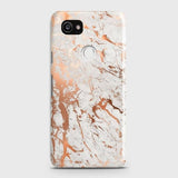 Google Pixel 2 XL Cover - In Chic Rose Gold Chrome Style Printed Hard Case with Life Time Colors Guarantee