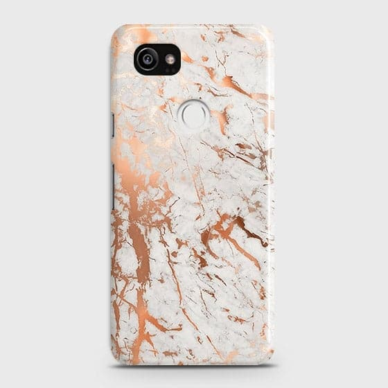 3D Print in Chic Rose Gold Chrome Style Case For Google Pixel 2 XL