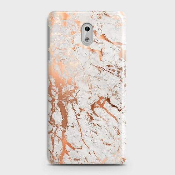Nokia 3 Cover - In Chic Rose Gold Chrome Style Printed Hard Case with Life Time Colors Guarantee