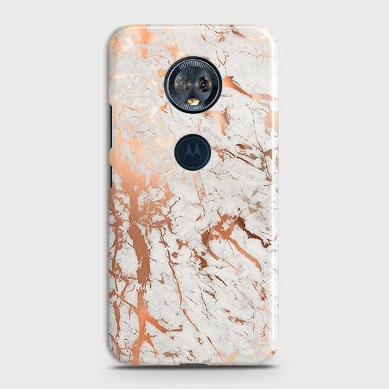 Motorola E5 Plus Cover - In Chic Rose Gold Chrome Style Printed Hard Case with Life Time Colors Guarantee
