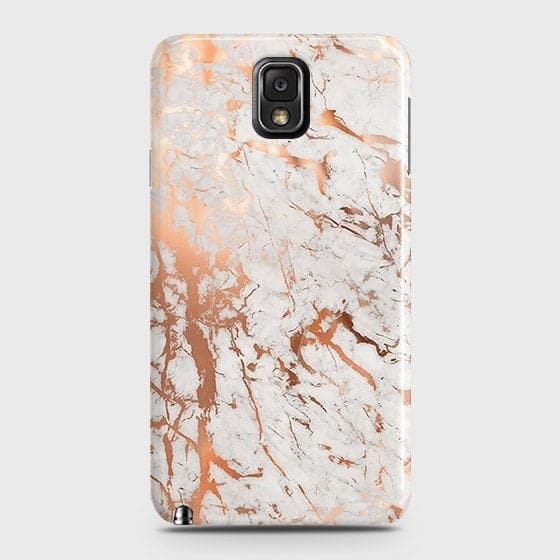 Samsung Galaxy Note 3 Cover - In Chic Rose Gold Chrome Style Printed Hard Case with Life Time Colors Guarantee