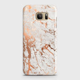 Samsung Galaxy Note 7 Cover - In Chic Rose Gold Chrome Style Printed Hard Case with Life Time Colors Guarantee