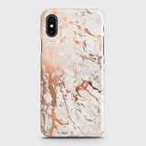iPhone XS Max Cover - In Chic Rose Gold Chrome Style Printed Hard Case with Life Time Colors Guarantee