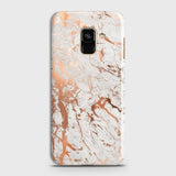 Samsung A8 Plus 2018 Cover - In Chic Rose Gold Chrome Style Printed Hard Case with Life Time Colors Guarantee