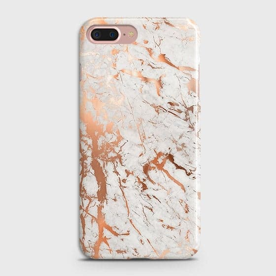 Printed Cover in Chic Rose Gold Chrome Style Case with Life Time Guarantee For iPhone 7 Plus & iPhone 8 Plus