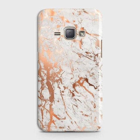 3D Print in Chic Rose Gold Chrome Style Case For Samsung Galaxy J1 2016 / J120