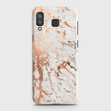 Samsung A9 Star Cover - In Chic Rose Gold Chrome Style Printed Hard Case with Life Time Colors Guarantee