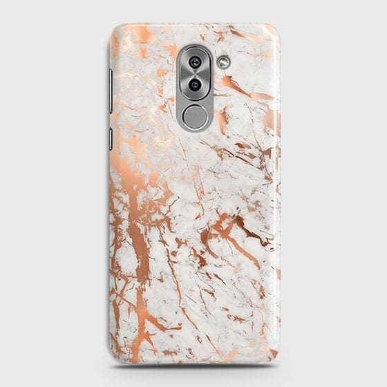 Huawei Honor 6X Cover - In Chic Rose Gold Chrome Style Printed Hard Case with Life Time Colors Guarantee