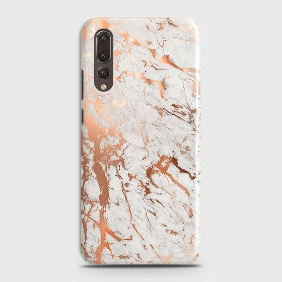 Huawei P20 Pro Cover - In Chic Rose Gold Chrome Style Printed Hard Case with Life Time Colors Guarantee