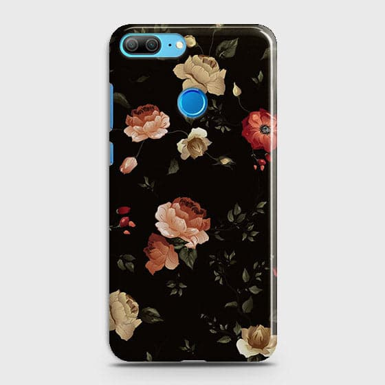 Huawei Honor 9 Lite Cover - Dark Rose Vintage Flowers Printed Hard Case with Life Time Colors Guarantee