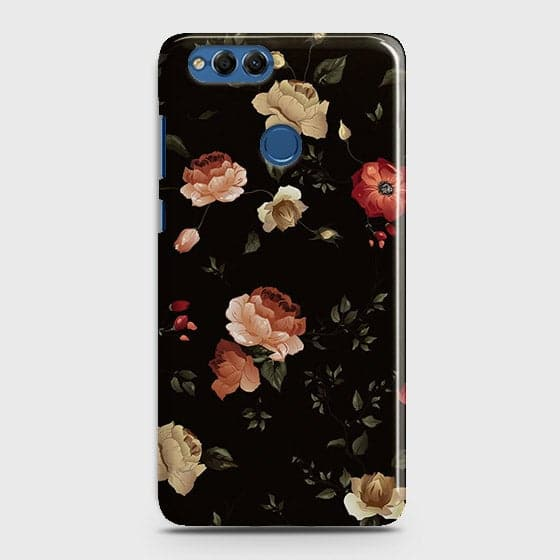 Dark Rose Vintage Flowers 3D Print Case For Huawei Honor 7X