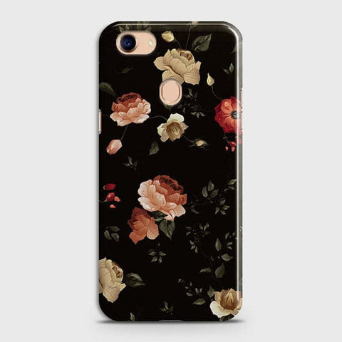 Dark Rose Vintage Flowers 3D Print Case For Oppo F5 / F5 Youth
