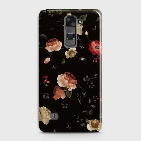 LG Stylus 2 / Stylus 2 Plus / Stylo 2 / Stylo 2 Plus Cover - Dark Rose Vintage Flowers Printed Hard Case with Life Time Colors Guarantee