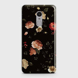 Xiaomi Redmi 4X Cover - Dark Rose Vintage Flowers Printed Hard Case with Life Time Colors Guarantee