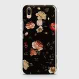 Vivo V9 / V9 YouthCover - Dark Rose Vintage Flowers Printed Hard Case with Life Time Colors Guarantee