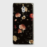 Dark Rose Vintage Flowers 3D Print Case For Nokia 6