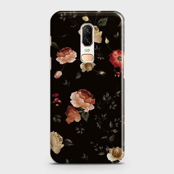 Dark Rose Vintage Flowers 3D Print Case For OnePlus 6