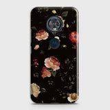 Dark Rose Vintage Flowers 3D Print Case For Motorola E5 Plus