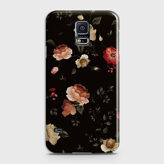 Dark Rose Vintage Flowers 3D Print Case For Samsung Galaxy S5