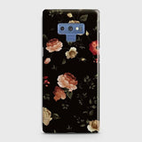 Samsung Galaxy Note 9 Cover - Dark Rose Vintage Flowers Printed Hard Case with Life Time Colors Guarantee
