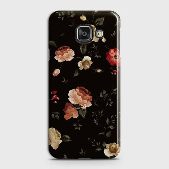 Samsung Galaxy A510 (A5 2016) Cover - Dark Rose Vintage Flowers Printed Hard Case with Life Time Colors Guarantee