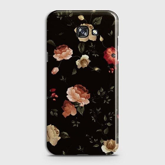 Dark Rose Vintage Flowers 3D Print Case For Samsung A3 2017