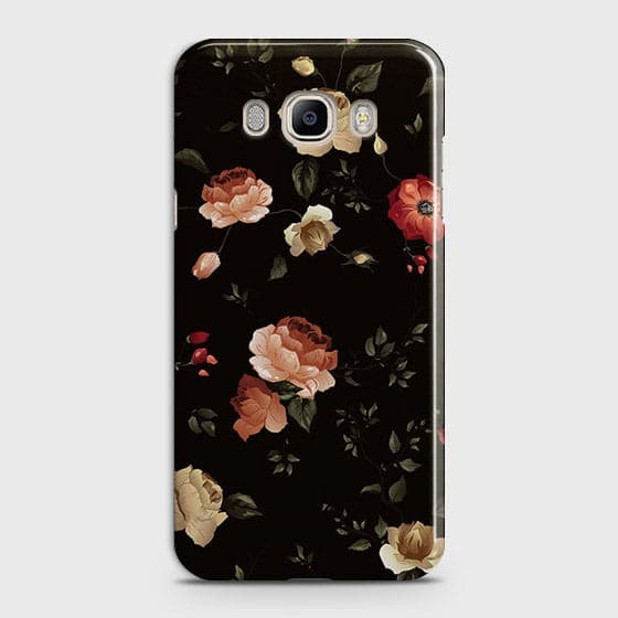 Samsung Galaxy J710 Cover - Dark Rose Vintage Flowers Printed Hard Case with Life Time Colors Guarantee