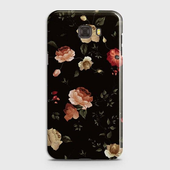 Samsung C5 Cover - Dark Rose Vintage Flowers Printed Hard Case with Life Time Colors Guarantee