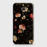 Samsung C9 Pro Cover - Dark Rose Vintage Flowers Printed Hard Case with Life Time Colors Guarantee