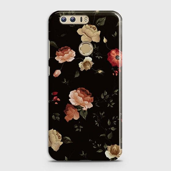 Dark Rose Vintage Flowers 3D Print Case For Huawei Honor 8