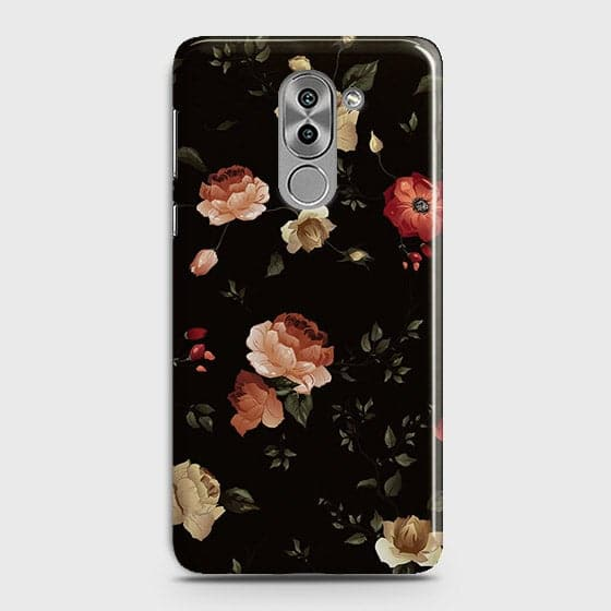 Dark Rose Vintage Flowers 3D Print Case For Huawei Honor 6X
