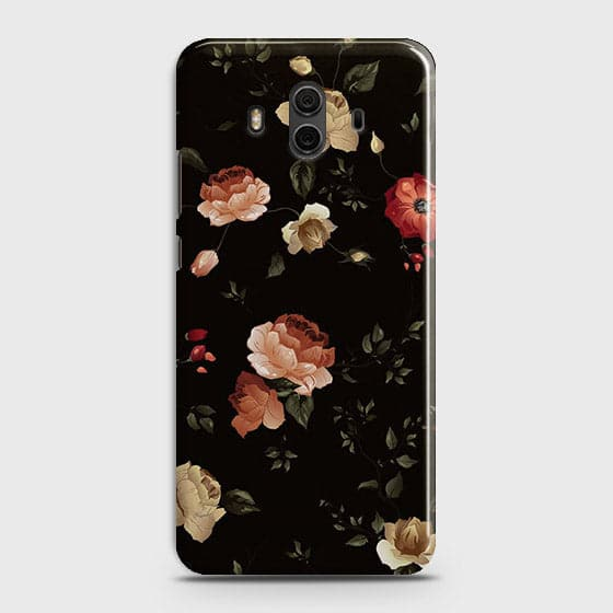 Dark Rose Vintage Flowers 3D Print Case For Huawei Mate 10