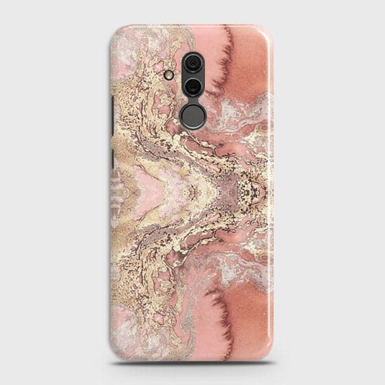 Huawei Mate 20 Lite Cover - Trendy Chic Rose Gold Marble Printed Hard Case with Life Time Colors Guarantee