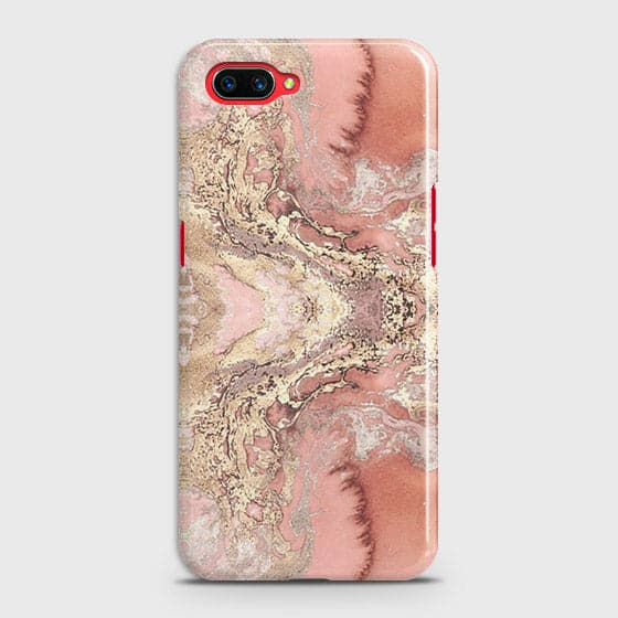 Oppo A5 Cover - Trendy Chic Rose Gold Marble Printed Hard Case with Life Time Colors Guarantee