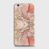 Oppo A71 Cover - Trendy Chic Rose Gold Marble Printed Hard Case with Life Time Colors Guarantee