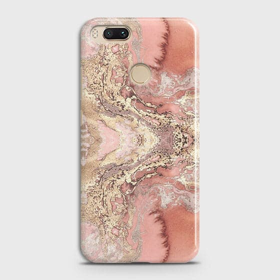 Trendy Chic Rose Gold Marble 3D Case For Xiaomi Mi A1