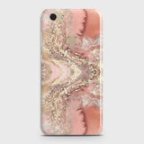 Vivo V7 Cover - Trendy Chic Rose Gold Marble Printed Hard Case with Life Time Colors Guarantee