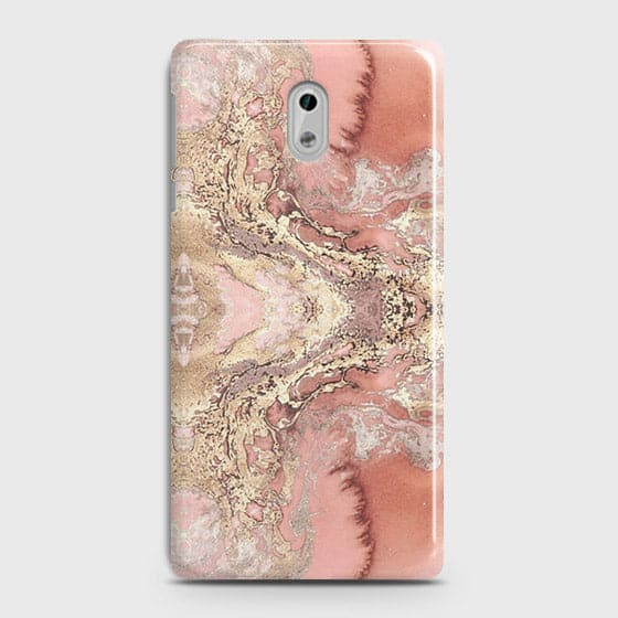 Nokia 3 Cover - Trendy Chic Rose Gold Marble Printed Hard Case with Life Time Colors Guarantee