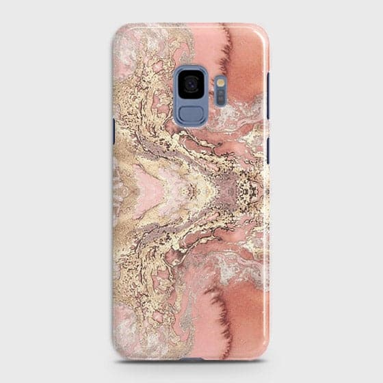Trendy Chic Rose Gold Marble 3D Case For Samsung Galaxy S9