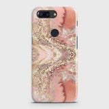 OnePlus 5T Cover - Trendy Chic Rose Gold Marble Printed Hard Case with Life Time Colors Guarantee