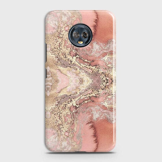 Trendy Chic Rose Gold Marble 3D Case For Motorola Moto G6 Plus