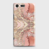 Trendy Chic Rose Gold Marble 3D Case For Sony Xperia XZ Premium